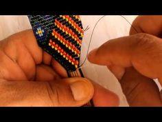 Bead Loom Patterns, Peyote Patterns, Tear, Loom Beading, Bead Weaving, Handmade Jewelry, Jewelry Making, Beaded Bracelets, Youtube