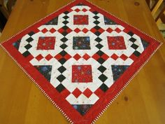 Fireworks Quilted Table Topper or Wall Quilt