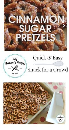 Cinnamon sugar pretzels recipes recipe appetizers apps party food parties f Party Finger Foods, Finger Food Appetizers, Party Appetizers, Christmas Appetizers, Finger Foods For Christmas, Picnic Finger Foods, Halloween Finger Foods, Finger Desserts, Simple Appetizers