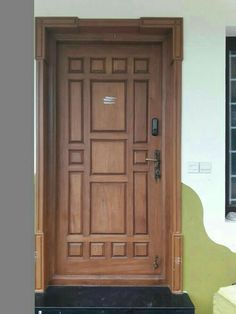 House Main Door Design, Main Entrance Door Design, Wooden Front Door Design, Double Door Design, Door Gate Design, Room Door Design, Door Design Interior, Window Design, Wood Exterior Door