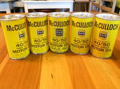 5 McCulloch 40/50 Two Cycle Motor Oil SAE 40 Yellow by Groovinonup, $43.00