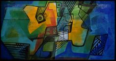 2294-Roberto Burle Marx, `Abstrato` - Pintura sobre Tecido - dat. 1992 - med. 210 x 110 cm