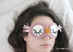 Sleepy owl mask free patern.