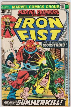 Marvel Premier Marvel Comics #24 Vol1 VG+ 4.5 Iron Fist
