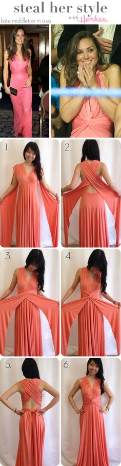 How to tie my convertible dress