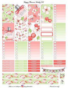 50%OFFSALE Spring Beauty Planner Stickers/Happy Planner