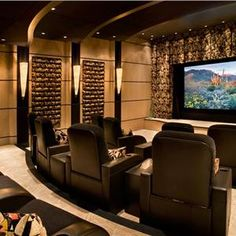 Designs by Mark, inc. is on of the regions leading design/build firms providing… Home Theater Basement, Basement Movie Room, Home Cinema Room, Home Theater Decor, At Home Movie Theater, Home Theater Rooms, Home Theater Design, Lofts, Design Firms