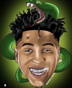 Blueface Illustration My Art (KidWuf) in 2019 Rap