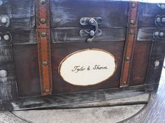 Large Trunk Chest Custom  Wedding Card Money by hanscreations, $79.99