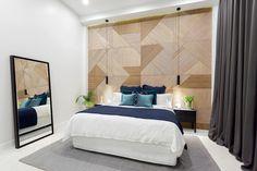 The Block 2016 - Week 6 Master Bedroom Reveals Modern Bedroom Design, Master Bedroom Design, Contemporary Bedroom, Bedroom Wall, Wooden Bedroom, Cozy Bedroom, Bedroom Designs, Master Suite, Bedroom Photos