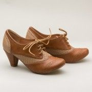 Matrix Two-Tone Oxfords by Chelsea Crew TanNude  AT vintagedancer.com