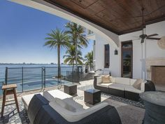 Patio and Spa: Waterfront Mansion Featured in Kourtney and Kim Take Miami