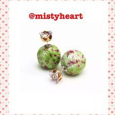 Candy Rainbow Double Side Earrings Brand New.  Metal:Alloy Size:16mm Jewelry Earrings
