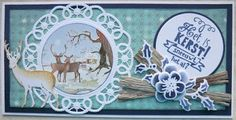 Handmade card by DT member Hanny with among others Craftables Wood Tiny's Deer and Creatables Flower Doily from Marianne Design Cake Pictures, Marianne Design, Handmade Christmas, Doilies, Deer, Christmas Cards, Decorative Plates, Projects To Try, Creative