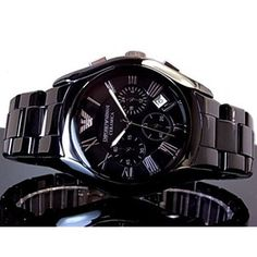 buy emporio armani ar1406 black ceramic rectangle mens watch emporio armani chronograph black ceramic mens watch