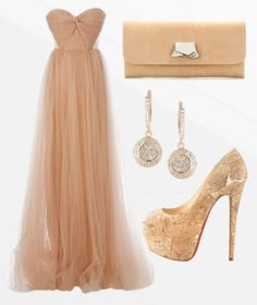 Anastasia's evening gown and heels she wore to the Coping Together gala.