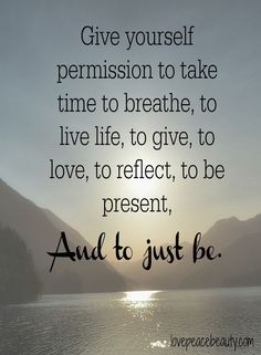 Take Time to Breathe Quote