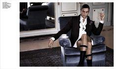 Vman Magazine, Sock Suspenders, Ladylike Style, Wilhelmina Models, Mens Attire, Textiles, Sartorialist, Burlesque, Male Models
