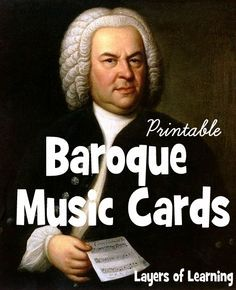 These printable Baroque music cards feature six composers and their most famous pieces. I love how easy this makes learning about composers and music.