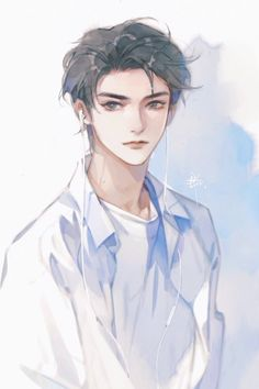 Character Illustration, Illustration Art, Dark Art Illustrations, Handsome Anime Guys, Cute Anime Wallpaper, Anime Angel, Anime Sketch, Boy Art, Manga Drawing