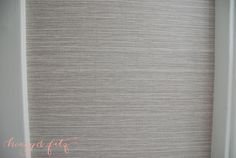Grasscloth Wallpaper, Vinyl $30 a roll vs $100 a roll -scrubbable and paintable if you get sick of it.