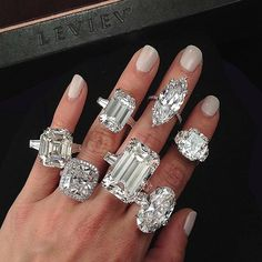 A diamond for every day of the week @levievdiamonds