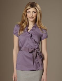 @the limited. I love the color purple and I love ruffles so basically this shirt completes me.