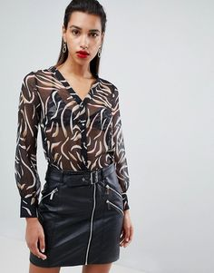 Shop the latest Morgan printed blouse trends with ASOS! Free delivery and returns (Ts&Cs apply), order today! Blouse Online, Blouse Styles, Printed Blouse, Morgan Morgan, Fashion Online, Latest Trends, Asos, Prints, Shopping
