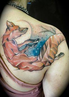Fox by Marie Kraus. 2012? Tattooed ink on skin.