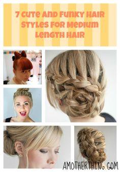 7 Cute and Funky Hair Styles for Medium Length Hair