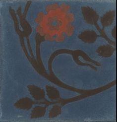 Emery fleur fond bleu