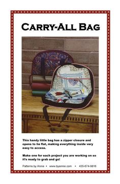 Patterns and supplies for quilters and fabric lovers: Shop   Category: Patterns by Annie   Product: Carry-All Bag