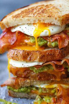 Guacamole Breakfast Sandwich!  Oh man!  Sign me up!