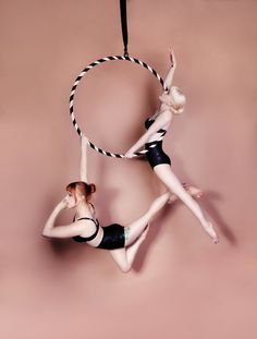 Simple, beautiful. Doubles hoop with a funky amazon/half angel move...