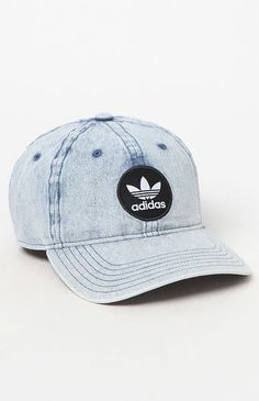 6d47caf8928 adidas gives your sporty style an upgrade with their Patch Denim Strapback Dad  Hat. Made