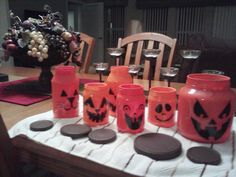 5th #FromP2P project - Mom's pumpkin jars Crafty Projects, Jars, Pumpkin, Table Decorations, Blog, Home Decor, Homemade Home Decor, Pumpkins, Interior Design