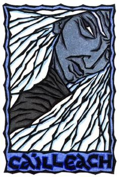 The Cailleach, blue skinned bringer of winter. Feeling her breath tonight.