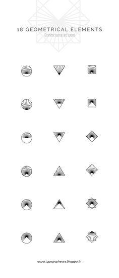 Sunrise & Sunset | geométrical iconsangular, blur, circle, design, glyphs, graphique, incon, pastel, photographic, sunrise, sunset, tatoo, tatouage, typographie, vector http://typographeuse.blogspot.fr/2017/06/sunrise-sunset-geometrical-icons.html
