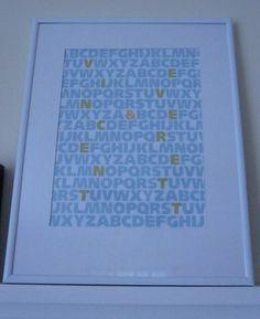 letter art Alphabet Wall Art, Letter Art, New Print, Humble Abode, Lettering, Prints, Frame, Diy, House