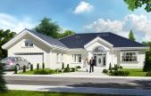 A może zbudujemy dom…? Modern Bungalow Exterior, Modern Bungalow House, Best Modern House Design, House Front Design, Modern Front Porches, Beautiful House Plans, Kerala House Design, Family House Plans, Exterior Paint Colors For House