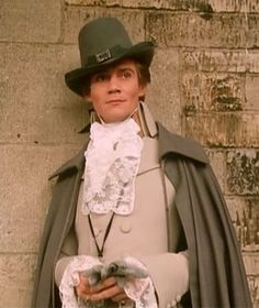 The Scarlet Pimpernel... I think he is the only guy that can wear lace! :)