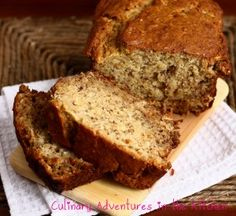 "Coconut Banana Bread | Culinary Adventures in the Kitchen ""I've easily made at least a dozen versions of banana bread in my lifetime; they ranged from decent to delicious. This one, however, almost landed me in a strait-jacket."""