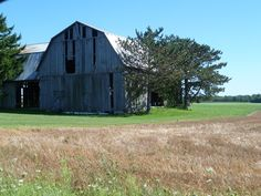 Abandoned barn on Atwater Road, between Ruth and Ubly, Michigan