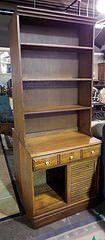 2 Piece Oak Bookcase