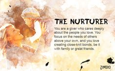 I'm the Nurturer ! Find out what the Zimbio inkblot test says about your personality. - Quiz