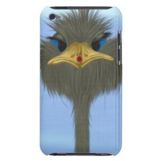 George And His Visitor iPod Touch Case. Designed by #OneArtsyMomma $47.95 #ostrich #ostrichiPodcase