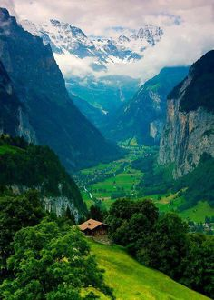 Interlaken, Switzerland. So grateful to have been here - Funny Farm Hostel, 2003. Can't wait to return...