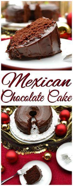 Mexican Chocolate Cake & Ganache Made with Abuelita |  Chocolate, Coffee, Cinnamon & Vanilla | Rich, Moist, Flavorful & Delicious | Christmas Holiday Baking | www.craftycookingmama.com | #nestleholiday ad
