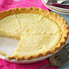 Coconut Pie Recipe from Taste of Home
