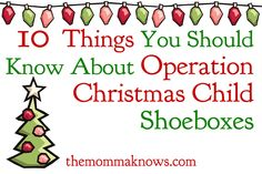 10 Things You Should Know about Operation Christmas Child Shoeboxes